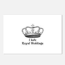 i hate royal weddings (v2, bl Postcards (Package o