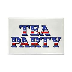 Tea Party Rectangle Magnet (100 pack)