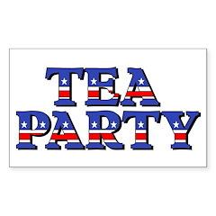 Tea Party Sticker (Rectangle)
