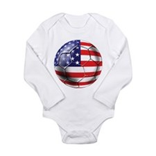 U.S. Soccer Ball Long Sleeve Infant Bodysuit
