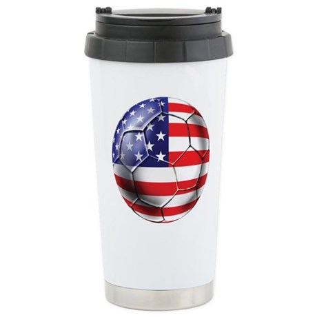 U.S. Soccer Ball Stainless Steel Travel Mug