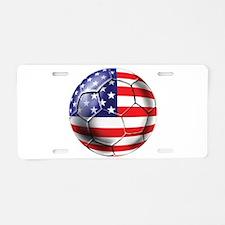 U.S. Soccer Ball Aluminum License Plate