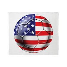 U.S. Soccer Ball Throw Blanket