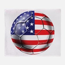 U.S. Soccer Ball Throw Blanket