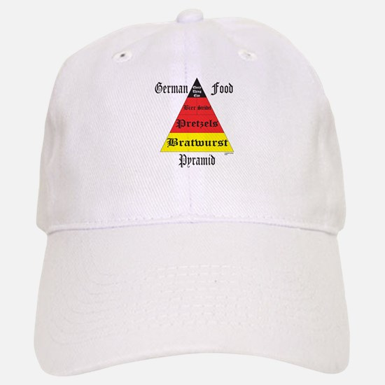 German Food Pyramid Baseball Baseball Cap