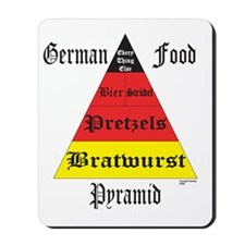 German Food Pyramid Mousepad