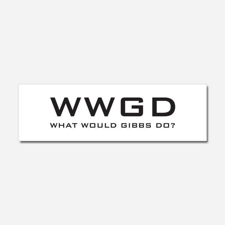 What Would Gibbs Do? Car Magnet 10 x 3
