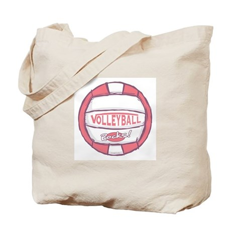 I Heart Beach Volleyball Tote Bag
