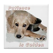 Golden Patience Tile Coaster