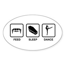 Feed, Sleep, Dance - Vampire Dancer Decal