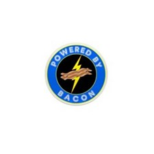 Powered By Bacon Mini Button (100 pack)