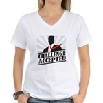 Challenge Accepted Women's V-Neck T-Shirt