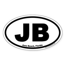 Juno Beach JB Euro Oval Stickers