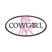 pink horse cowgirl Patches