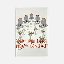 Martinis Have Landed Rectangle Magnet