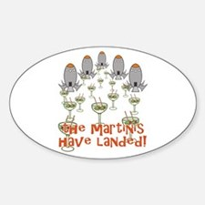 Martinis Have Landed Decal