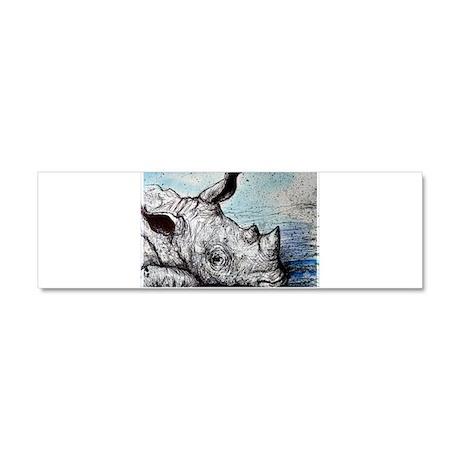 Rhino, wildlife, Car Magnet 10 x 3