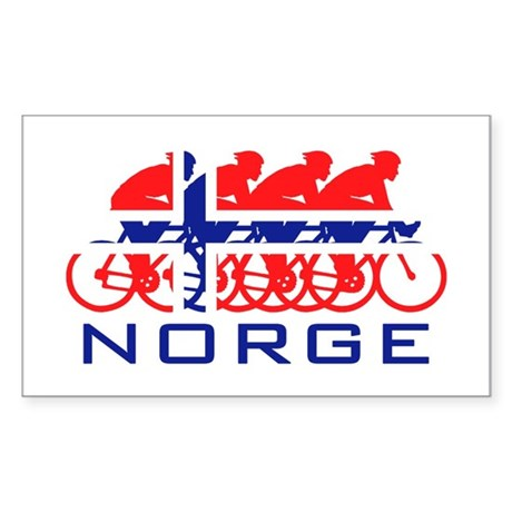 Norge Cycling Sticker (Rectangle)