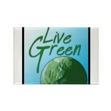Live Green Rectangle Magnet