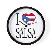 "Puerto Rican ""I Love Salsa"" Wall Clock"