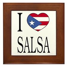 """Puerto Rican """"I Love Salsa"""" Framed Tile"""