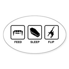 Feed, Sleep, Flip - Vampire Gymnast Decal