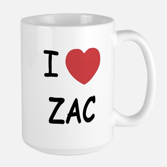 I heart zac Large Mug