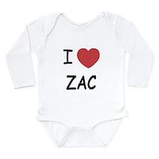 I heart zac Long Sleeve Infant Bodysuit