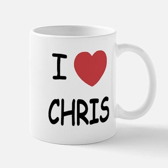 I heart chris Mug