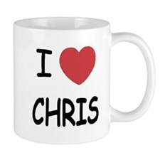 I heart chris Small Small Mug