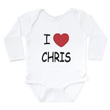 I heart chris Long Sleeve Infant Bodysuit