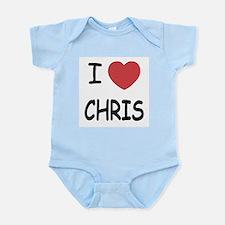 I heart chris Infant Bodysuit