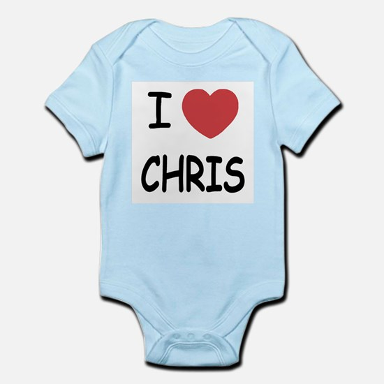 I heart chris Infant Bodysuit