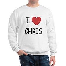 I heart chris Sweatshirt