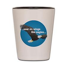 Wings Like Eagles Shot Glass