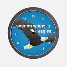 Wings Like Eagles Wall Clock