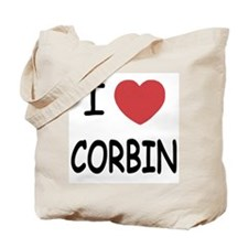I heart corbin Tote Bag