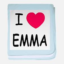 I heart emma baby blanket