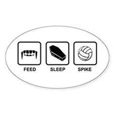Feed, Sleep, Spike Decal