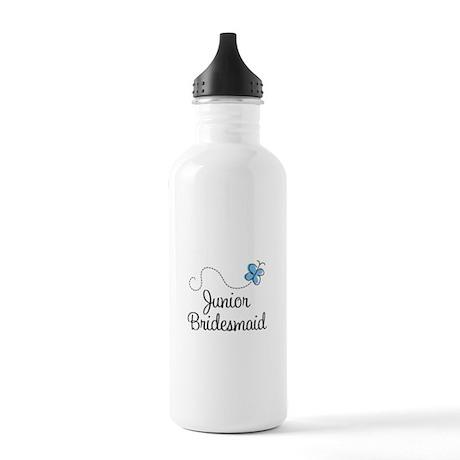 Blue Wedding Junior Bridesmaid Stainless Water Bot
