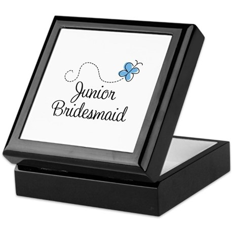 Blue Wedding Junior Bridesmaid Keepsake Box