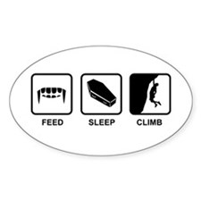 Feed, Sleep,Climb - Vampire Climber Decal