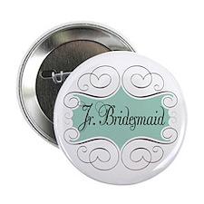 "Beautiful Junior Bridesmaid 2.25"" Button"