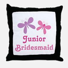 Butterflies Junior Bridesmaid Throw Pillow