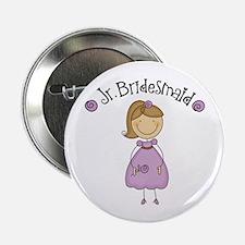 """Junior Bridesmaid Girl Design 2.25"""" Button"""