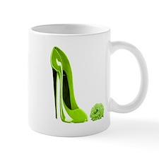 Lime green stiletto shoe and Mug