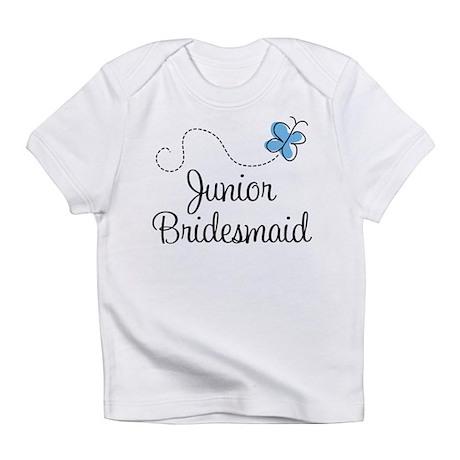 Blue Wedding Junior Bridesmaid Infant T-Shirt
