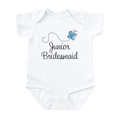 Blue Wedding Junior Bridesmaid Infant Bodysuit