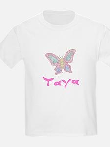 Pink Butterfly Taya Kids T-Shirt