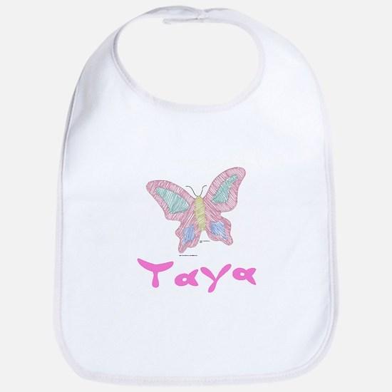 Pink Butterfly Taya Bib